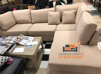 Brand new linen sectional sofa with free ottoman Silver Spring, 20902