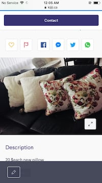 white and multicolored floral throw pillow screenshot Toronto, M6H 4B9