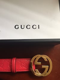 red Gucci leather belt with box Highland Park, 08904