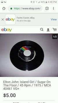 """Vintage 45"""" record Florence, 39073"""