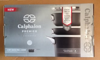 Hello Calphalon Premier 2.5QT Sauce Pan with Cover-NEW