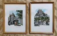Vintage Quebec Watercolor paintings Toronto, M2H