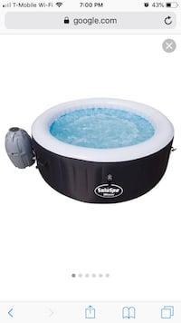 Saluspa Miami Portable Hot Tub, Black New Woodbridge, 22192