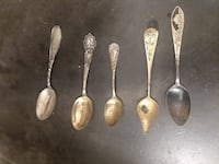 Set of Collectible City-Themed Spoons Kensington