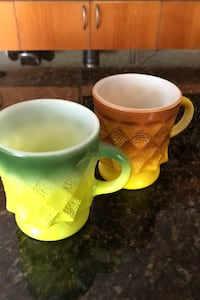 2 of Vintage Fire king Coffee mug フォールズチャーチ, 22046