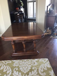 Solid wood walnut dining table