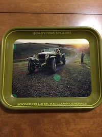 Vintage metal antique car tray  Hamilton, 45011