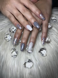 Nails glitter  Los Angeles