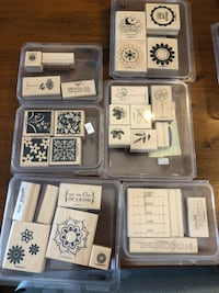 Scrapbooking rubber stamps