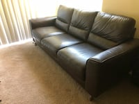 Espresso Brown Leather Sofa Owings Mills, 21117