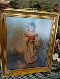 woman in white dress painting with brown wooden frame Morristown, 37813