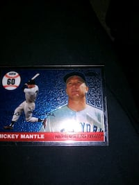 Topps chrome mantle record home run card