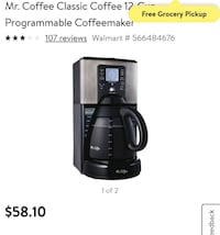 Mr. Coffee 12-cup programmable coffee maker Tucson, 85743