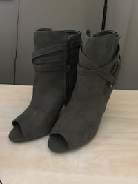 Olive Green Suede Like Booties West Kelowna