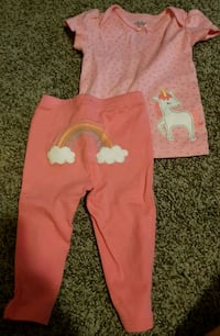 Unicorn pants and top
