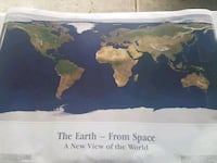 World map (520miles in space)