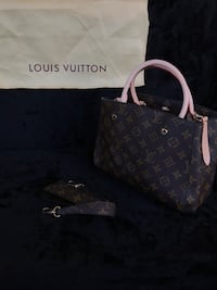 monogrammed brown Louis Vuitton leather tote bag Daly City, 94014