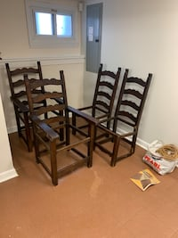 Unfinished Wood table chairs with wicker kit Maplewood, 07040