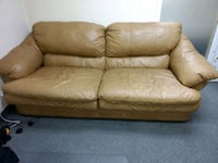 brown leather 3-seat sofa+ love seat Pittston