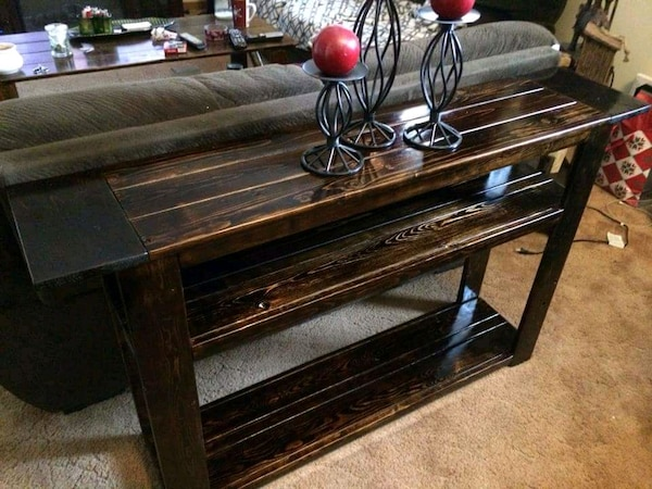 Rustic style Behind The Couch Table ( new!!! )