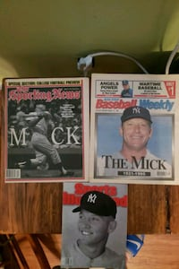3 Collectable Mickey Mantle perfect Condition papers