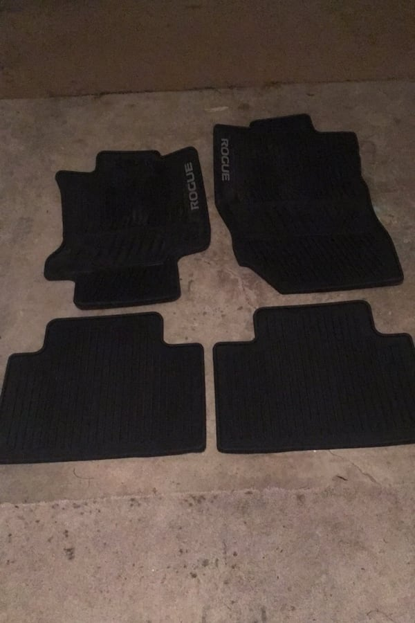 Used 2016 Nissan Rogue Rubber Floor Mats All Weather 4 Used For