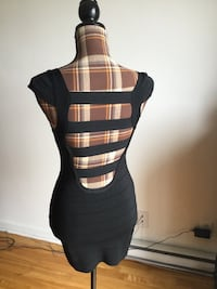Brand new Guess black open back sexy dress in small/medium