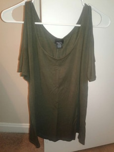 brown scoop neck blouse