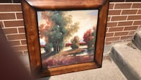 brown wooden framed painting of trees Niagara Falls, L2G 2R1