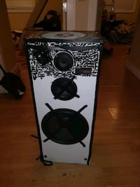 black and gray subwoofer speaker Victoria, V9A 2N7