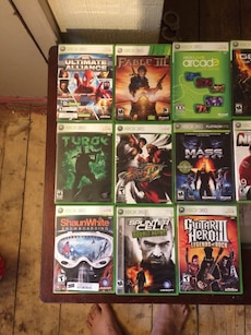 assorted Xbox 360 game case lot