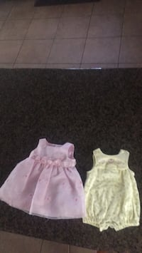 toddler's two pink and white sleeveless dresses Middleton, 83644