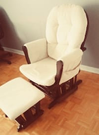 White and brown glider chair Laval, H7V 1C7