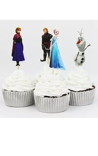 Frozen cake cupcake toppers flexi picks frozen birthday party cake toppers 24 pcs Whitby, L1N 2N6