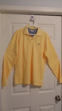 yellow Lacoste long-sleeved XL dress