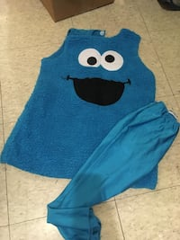 Girl Cookie Monster costume