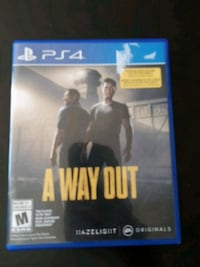A way out PS4 game  Edmonton, T6V 1X2