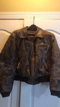 Vintage brown leather boomer jacket size Lg Bealeton, 22712