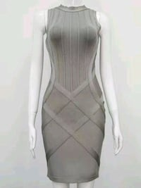 Beautiful grey bandage dress