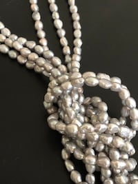 "68"" Silver Fresh Water Pearl Necklace Arlington, 22204"
