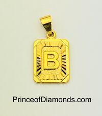 Gold coloured Initial letter B pendant charm