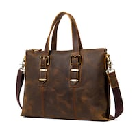 MAN TIME BOOPDO LUXURY HANDMADE LEATHER 15 INCH TOTE HAND BAG