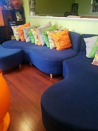 blue fabric sofa and throw pillows Germantown, 20874