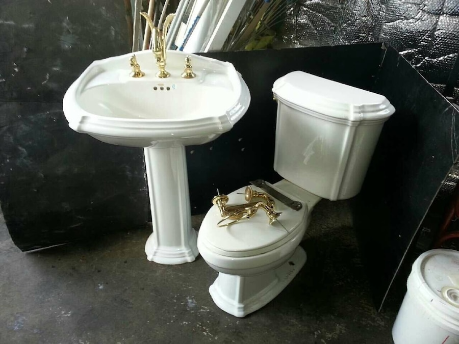 white ceramic bathroom set