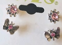 two pairs of silver and pink earrings Gresham, 97080