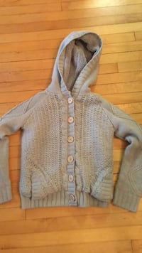 gray button-up hoodie Langley, V3A 6M7