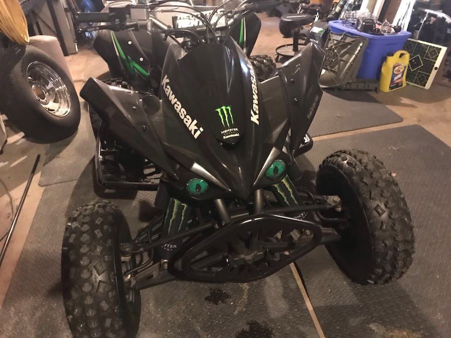 Photo *NO TRADES* 2009 Kawasaki KFX450R monster energy edition racing ATV