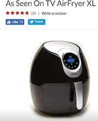 black and white air fryer Toronto, M4H 1L7