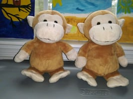 Twins Cute Little Monkeys Plush