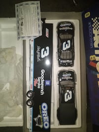 black Dale Earnhardt 3 freight truck and stock car